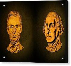 Washington And Lincoln Acrylic Print by David Dehner