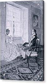 Washington And Mary Philipse, Illustration From Colonel Washington By Woodrow Wilson, Pub Acrylic Print