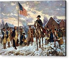 Washington At Valley Forge Acrylic Print by Edward Moran