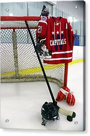 Washington Capitals Brooks Liach Winter Classic 2015 Jersey Acrylic Print