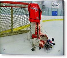 Washington Capitals Hockey Home Jersey  Acrylic Print by Lisa Wooten