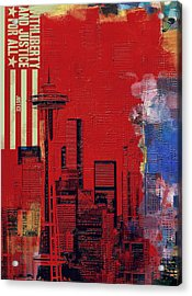 Washington City Collage 3 Acrylic Print