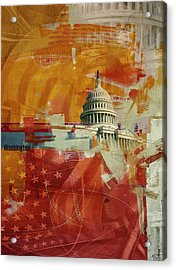 Washington City Collage 4 Acrylic Print by Corporate Art Task Force