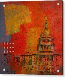 Washington City Collage Alternative Acrylic Print