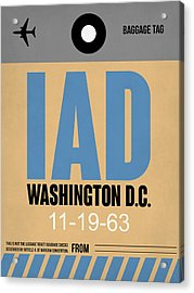 Washington D.c. Airport Poster 3 Acrylic Print by Naxart Studio