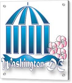 Acrylic Print featuring the digital art Washington Dc by Dorothy Maier