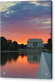 Washington Dc Night Acrylic Print by Jack Nevitt