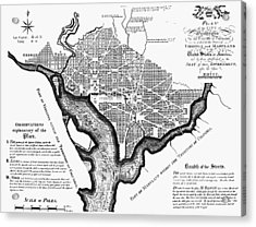 Washington, D.c. Plan, 1792 Acrylic Print by Granger