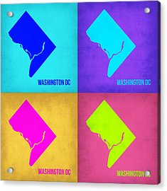 Washington Dc Pop Art Map 1 Acrylic Print