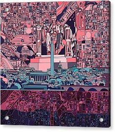 Washington Dc Skyline Abstract 2 Acrylic Print