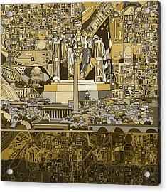 Washington Dc Skyline Abstract 4 Acrylic Print