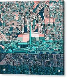 Washington Dc Skyline Abstract 5 Acrylic Print