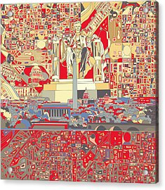 Washington Dc Skyline Abstract 6 Acrylic Print