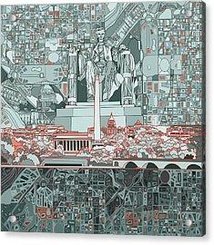 Washington Dc Skyline Abstract Acrylic Print