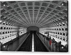 Acrylic Print featuring the photograph Washington Dc Subway by Geraldine Alexander