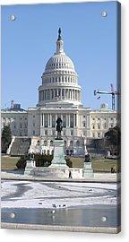 Washington Dc - Us Capitol - 01132 Acrylic Print