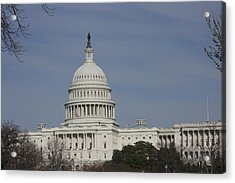 Washington Dc - Us Capitol - 01136 Acrylic Print by DC Photographer