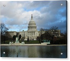 Washington Dc - Us Capitol - 12122 Acrylic Print by DC Photographer