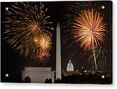 Washington Fireworks Acrylic Print