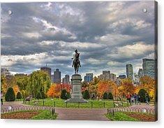Washington In The Public Garden Acrylic Print