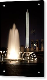 Washington Monument And Wwii Memorial  Acrylic Print