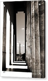 Washington Monument Acrylic Print by Angela DeFrias
