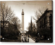Washington Monument, Baltimore, Jackson, William Henry Acrylic Print by Litz Collection