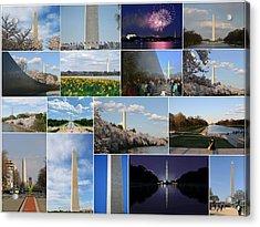 Washington Monument Collage 2 Acrylic Print by Allen Beatty
