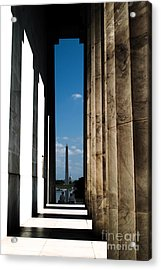 Washington Monument Color Acrylic Print by Angela DeFrias
