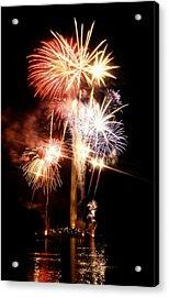 Washington Monument Fireworks 2 Acrylic Print by Stuart Litoff
