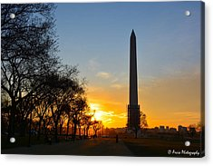 Washington Monument Under Repair Acrylic Print