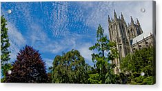 Acrylic Print featuring the photograph Washington National Cathedral by Michael Donahue