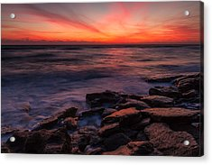 Washington Oaks Winter Sunrise Acrylic Print