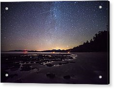 Washington Olympic Night Sky Meteor Acrylic Print