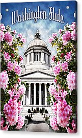 Washington State Capitol Acrylic Print by April Moen