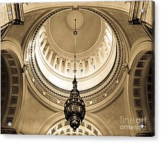 Washington State Capitol Building Rotunda Sepia Acrylic Print by Merle Junk
