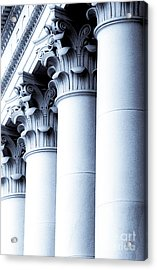 Acrylic Print featuring the photograph Washington State Capitol Columns In Blue by Merle Junk