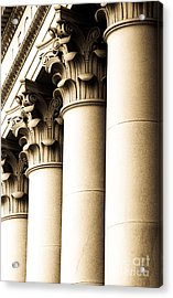 Acrylic Print featuring the photograph Washington State Capitol Columns In Sepia by Merle Junk