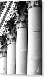 Acrylic Print featuring the photograph Washington State Capitol Columns by Merle Junk