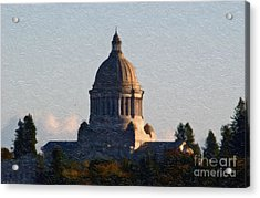 Acrylic Print featuring the photograph Washington State Capitol II by Susan Parish