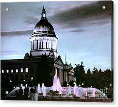 Washington State Capitol Tivoli Fountain 1950 Acrylic Print