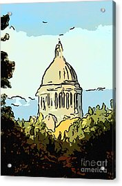 Washington State Legislative Building Abstract Acrylic Print by Susan Parish