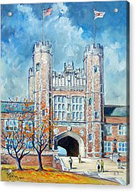 Washington University St.louis - Fall Acrylic Print