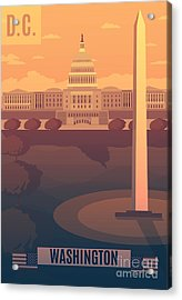 Washington Vector Landescape.washington Acrylic Print