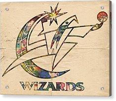 Washington Wizards Poster Art Acrylic Print by Florian Rodarte