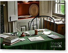 Washington Wrote Here Acrylic Print by Olivier Le Queinec