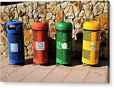 Waste Separation And Recycling Bins Acrylic Print