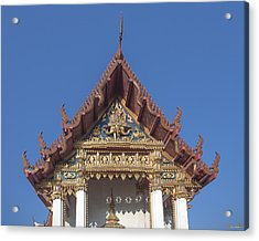 Wat Amarintaram Ubosot Gable Dthb1509 Acrylic Print