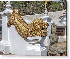Wat Chedi Liem Phra Ubosot Gate Makara Dthcm0836 Acrylic Print