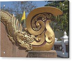 Wat Chedi Liem Phra Ubosot Makara And Stylized Naga Dthcm0838 Acrylic Print